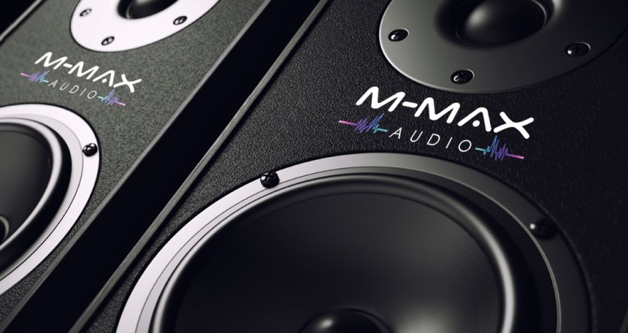 Diseño Logotipos M MAX Audio